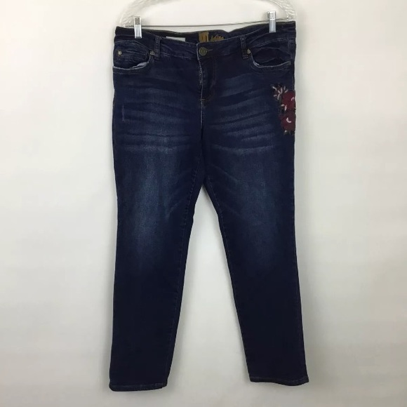 ecbd629e41e Kut from the Kloth Denim - Kut from the Kloth Katy floral embroidered jeans